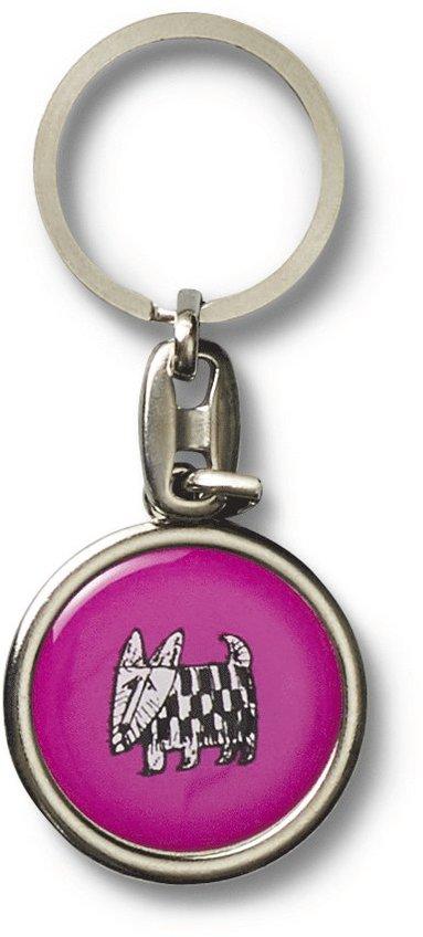 Nyckelring Lisa Larson hund rosa 1
