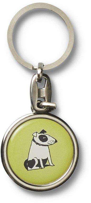 Nyckelring Lisa Larson hund grön 1