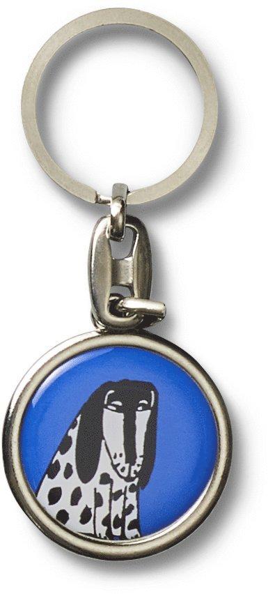 Nyckelring  Lisa Larson hund blå 1