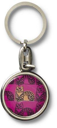 Nyckelring Lisa Larson katt rosa
