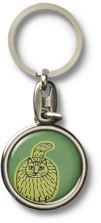 Nyckelring Lisa Larson katt grön