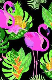 Kortfodral Plånka flamingo