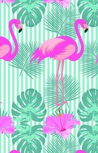 Kortfodral Plånka flamingo pastell