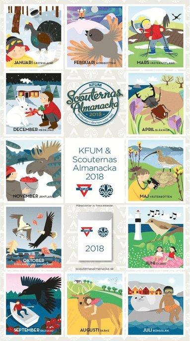 Väggkalender 2018 KFUM Scouternas almanacka