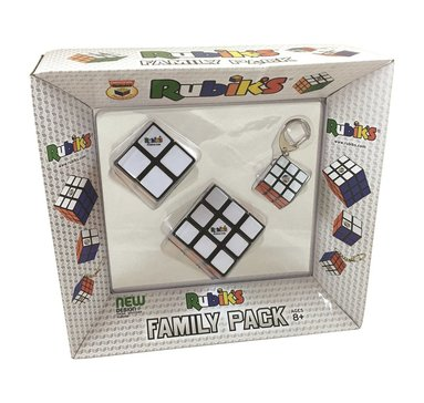 Nyckelring Rubiks familjepack 3x3/2x2/3x3