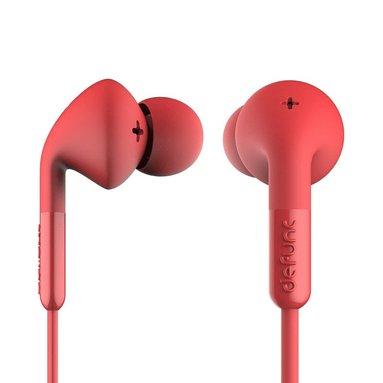 Hörlurar Defunc Plus Music röd 1