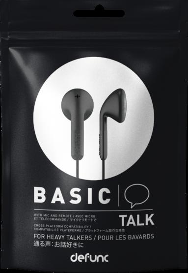Hörlurar Defunc Basic Talk svart 1
