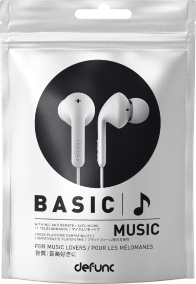 Hörlurar Defunc Basic Music vit 1