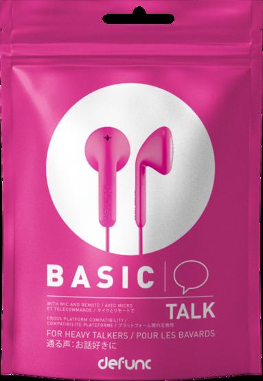Hörlurar Defunc Basic Talk rosa 1