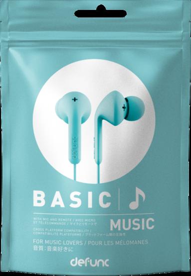 Hörlurar Defunc Basic Music turkos 1