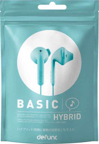 Hörlurar Defunc Basic Hybrid turkos 1