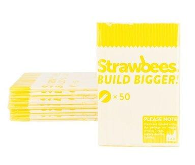 Straws till Strawbees 50-pack gula 1