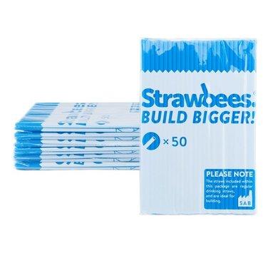 Straws till Strawbees 50-pack blå 1