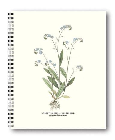 Spiralblock 21x26cm Växter Förgätmigej