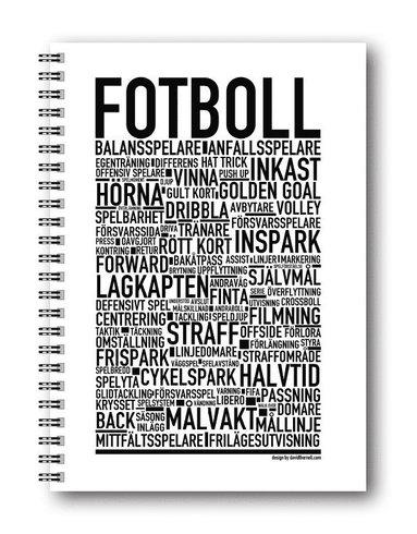 Spiralblock A5 Wallstars Fotboll
