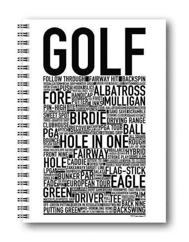 Spiralblock A5 Wallstars Golf