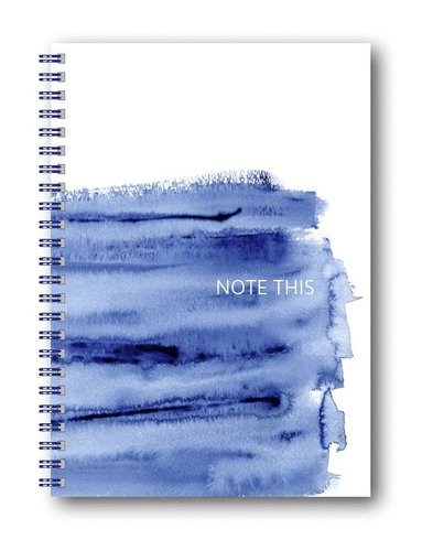 Spiralblock A5 Akvarell Blå