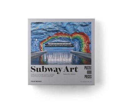 Pussel 1000 bitar Subway Art Rainbow 1