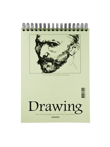 Teckningsblock A4 135g 40blad