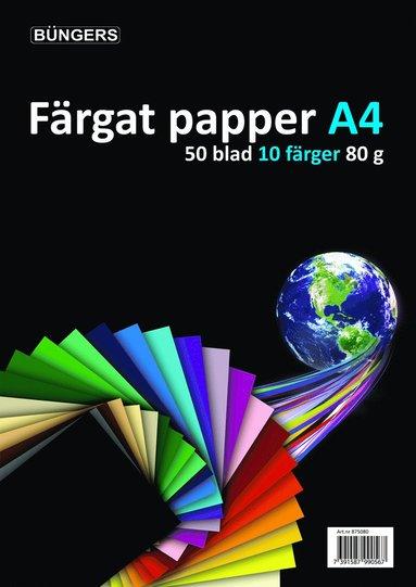 Kopieringspapper A4 80g 50 ark sorterade färger