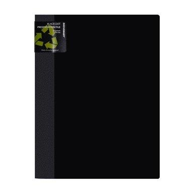 Demopärm A4 10 fickor svart