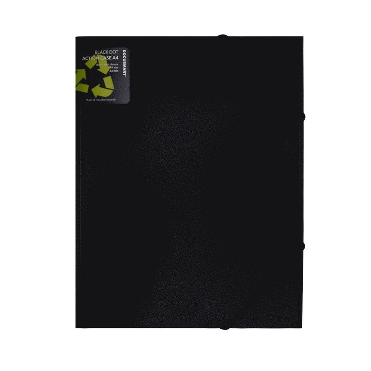 Gummibandsmapp A4 svart 1