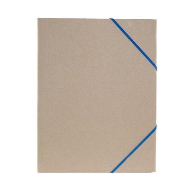 Gummibandsmapp A4 natur blått band