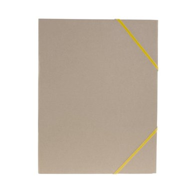 Gummibandsmapp A4 natur gult band