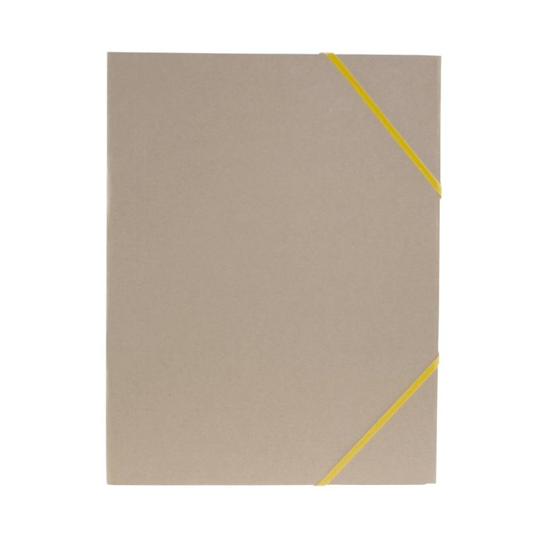 Gummibandsmapp A4 natur gult band 1