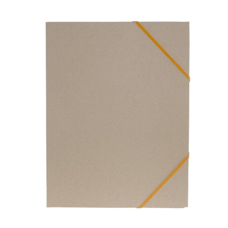 Gummibandsmapp A4 natur med orange band 1