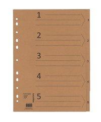 Register A4 1-5 150g kraftpapper