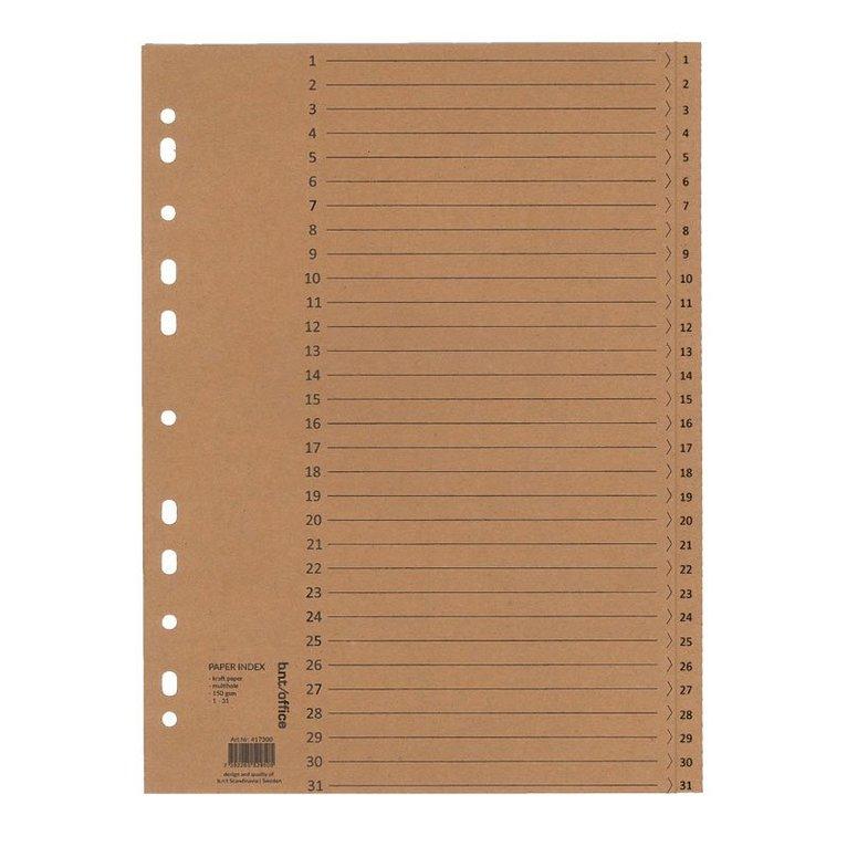 Register A4 1-31 150g kraftpapper 1
