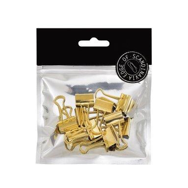 Pappersklämma 19mm 10 st guld