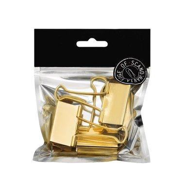 Pappersklämma 41mm 3 st guld