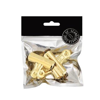 Pappersklämma bulldog 57mm 3 st guld