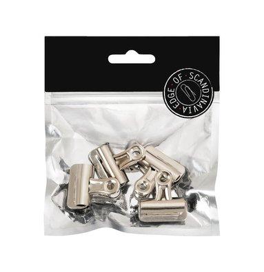 Pappersklämma bulldog 50mm med magnet 2 st silver