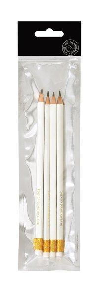 Blyertspenna HB 4-pack vit
