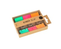 Pappersklämma 25mm 6 st sorterade färger