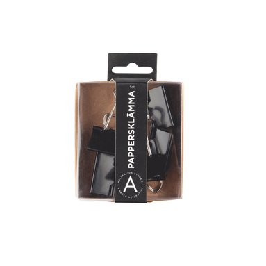 Pappersklämma 32mm 5 st svart 1