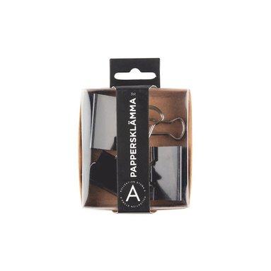 Pappersklämma 41mm 3 st svart 1
