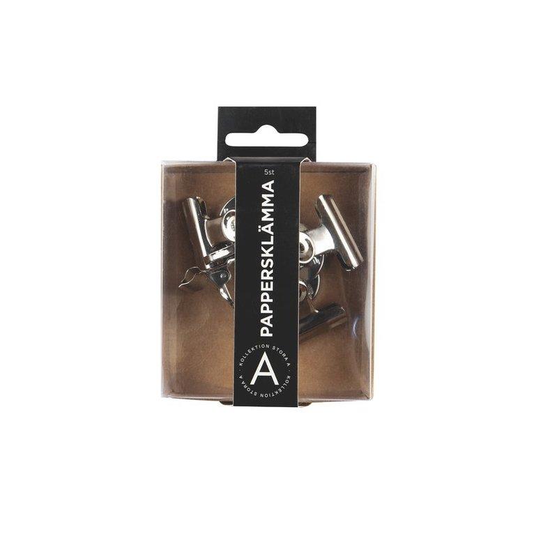 Pappersklämma med magnet 4x31mm silver 1