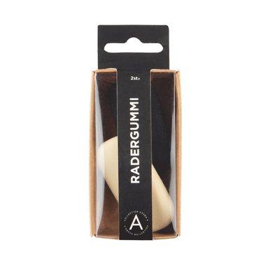 Radergummi 2-pack vit & svart 1