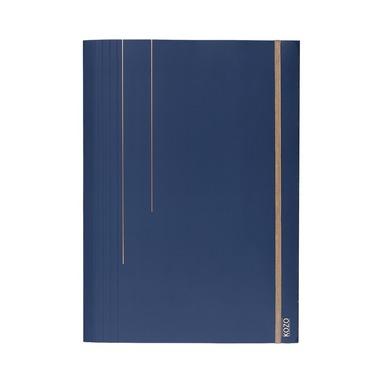Gummibandsmapp A4 marinblå