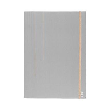 Gummibandsmapp A4 grå