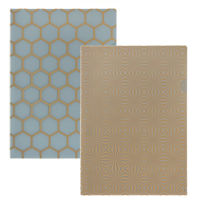 Aktmapp 2-pack dimblå/grå 1