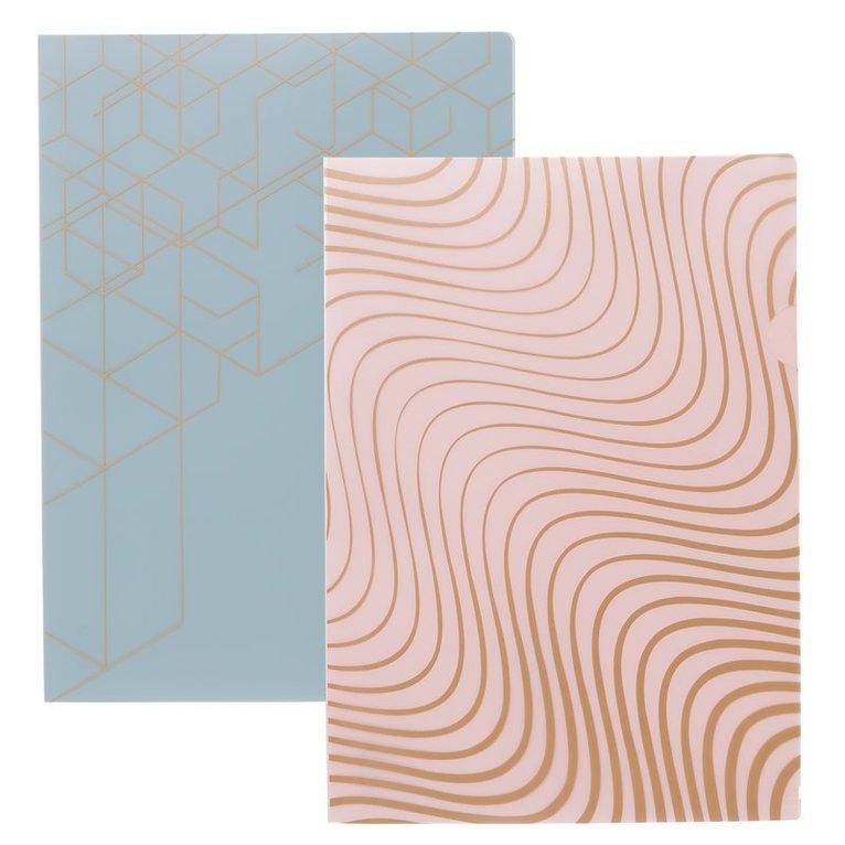 Aktmapp 2-pack dimrosa/blå 1