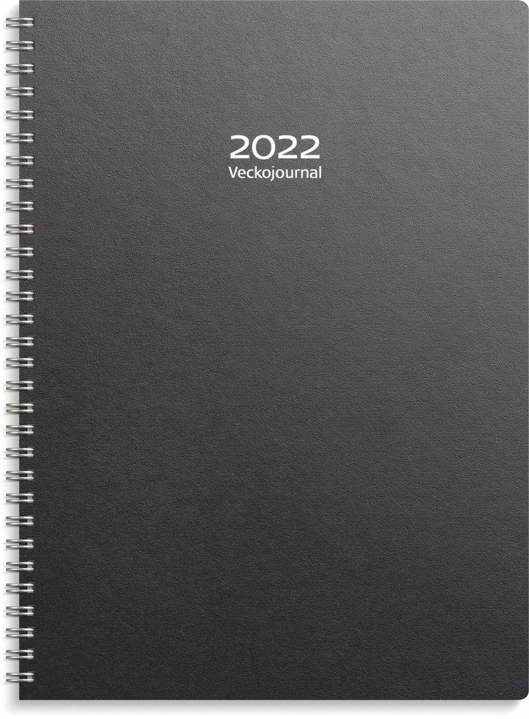 Kalender 2022 Veckojournal refill svart 1