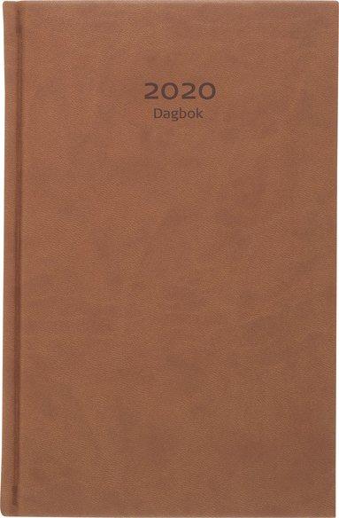 Kalender 2020 Dagbok konstläder konjak 1