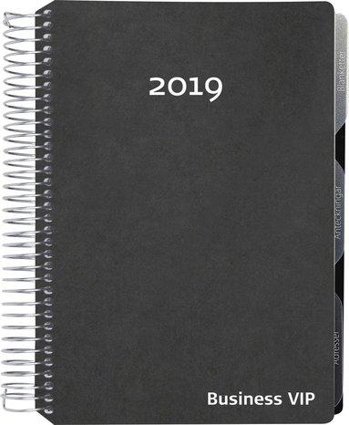 Kalender 2019 Business VIP konstläder svart 1