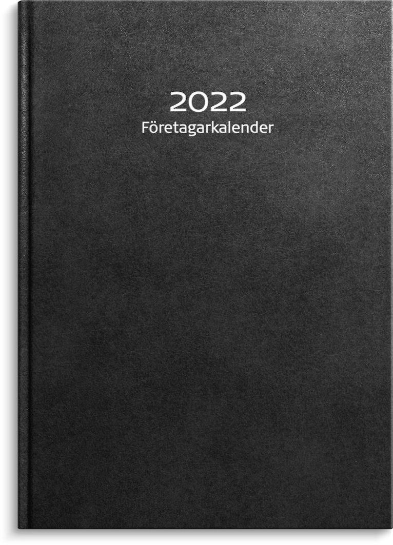 Kalender 2022 Företagarkalendern konstläder svart 1